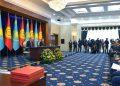 Қазақстан мен Қырғызстан президенттері келіссөздер бойынша БАҚ-қа мәлімет беріп отыр. Көрнекі сурет: adilettv.kz