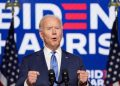 U.S Democratic presidential nominee Joe Biden speaks about election results in Wilmington, Delaware, U.S., November 6, 2020. REUTERS/Kevin Lamarque - RC24YJ9P0WGT